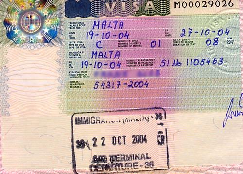 Где оформить визу на Мальту