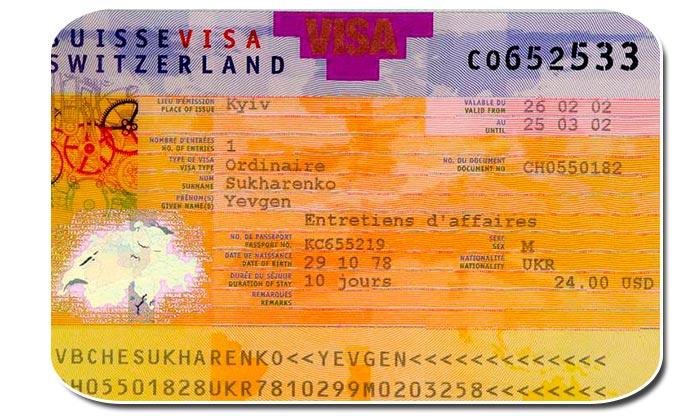 Какие визы в Швейцарию бывают