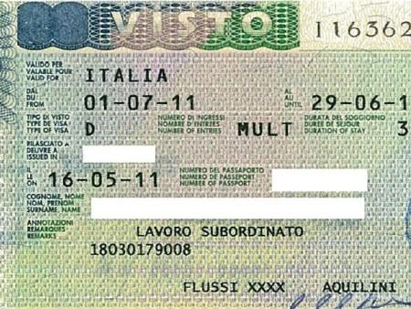 въездной документ на трудоустройство в Италию