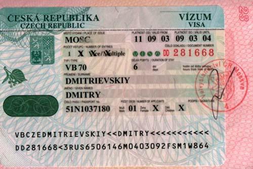 Оформляем визу в Чехию