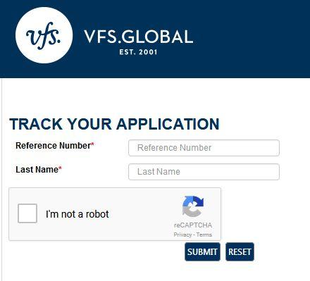 Отслеживание вашей визы