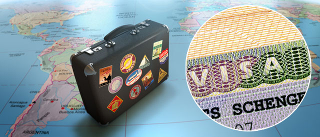 чемодан туриста