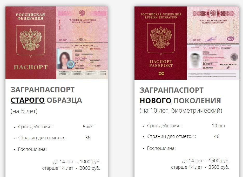 Чем отличается загранпаспорт